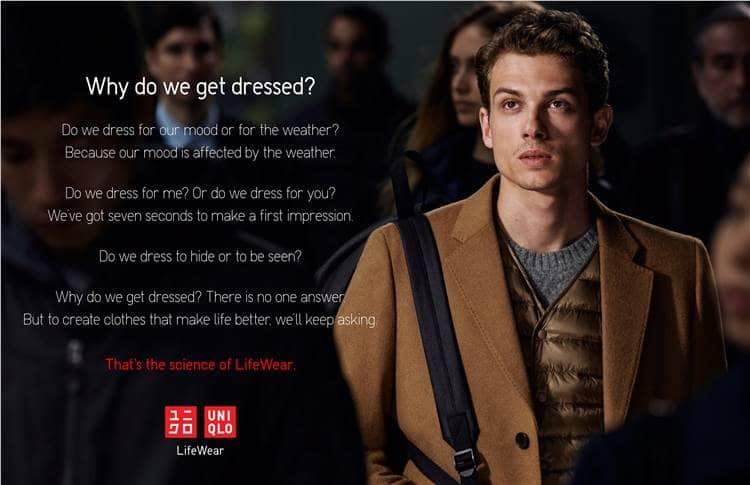 Tại sao chúng ta mặc quần áo? (Uniqlo)